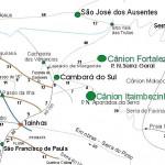 Mapa estradas e trilhas – Serra Gaúcha