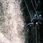 Rapel na Cascata do Chuvisqueirinho