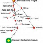 Mapa para o P.E. de Itapuã