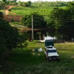 Camping a beira do rio Paraguaçu